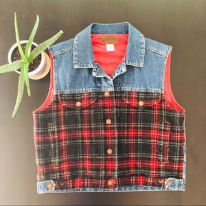 Pendleton Originals Denim Wool Snap Button Vest